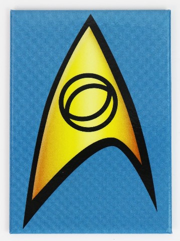Star Trek Blue Communicator Badge Logo Refrigerator FRIDGE MAGNET Spock TV Movie H16