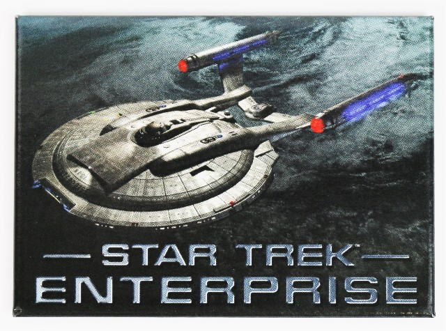 Star Trek Enterprise Refrigerator FRIDGE MAGNET Spock Kirk Picard Data H13