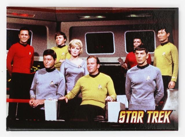 Star Trek Original Series Mr Spock Captain Kirk Refrigerator FRIDGE MAGNET The Enterprise Kirk McCoy H14