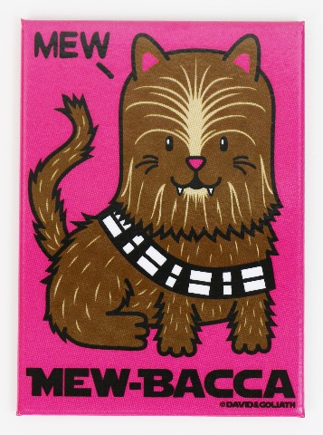 Mew-Bacca FRIDGE MAGNET Star Wars Chewbacca Cat Humor Funny G25