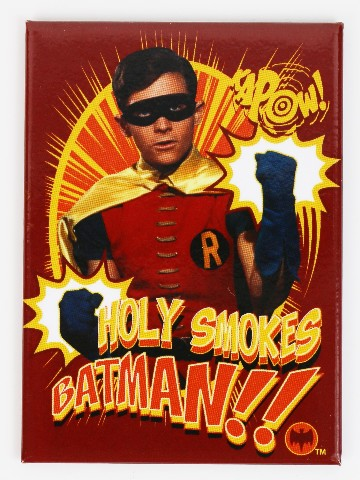 Batman and Robin Holy Smokes FRIDGE MAGNET Gotham City  DC Comics H32