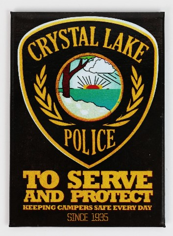 Friday The 13th Crystal Lake Police FRIDGE MAGNET Jason Voorhees J32