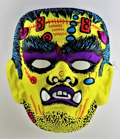 Vintage Frankenstein Halloween Mask Monster 1960's 1970's Y229