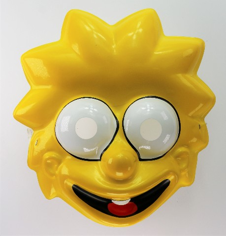 Vintage Ben Cooper The Simpsons Lisa Simpson Halloween Mask Y207