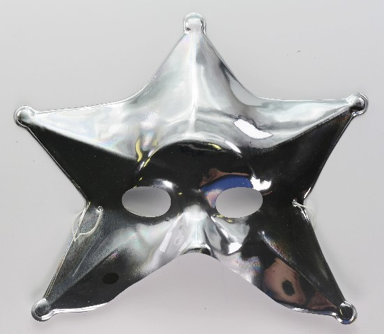 Silver Star Man Halloween Mask Spaceman Celestial Solar System-4633