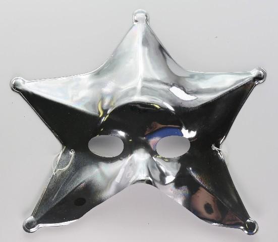 Silver Star Man Vintage Halloween Mask Spaceman Celestial Solar System Y234