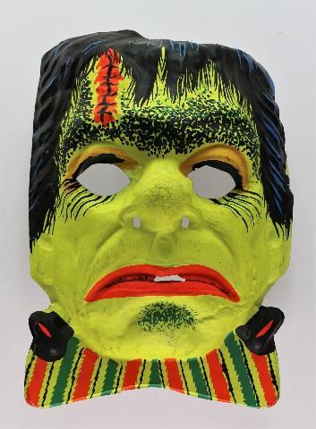 Vintage Ben Cooper Frankenstein Halloween Mask Universal Monsters 1970s Y203