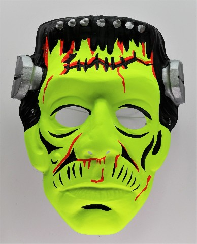 Vintage Collegeville Frankenstein Halloween Mask Universal Monsters Y201