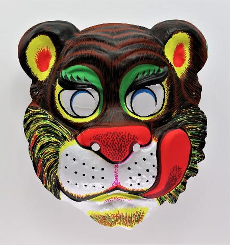 Vintage Lion Tiger Halloween Costume Mask Zoo Animals Cat Safari Y192