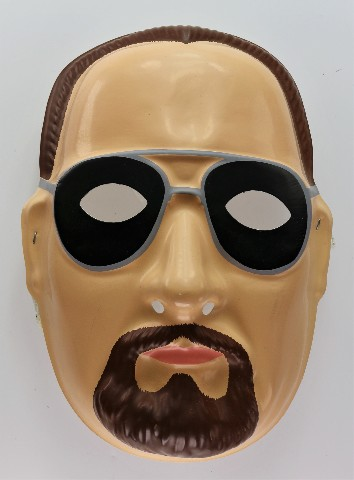 Vintage WWF WWE Big Boss Man Halloween Mask Wrestling NWO Hogan Y189