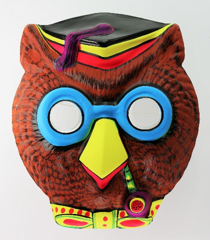 Vintage Wise Owl With Pipe Halloween Mask School House Rock Tootsie Roll Pop Y187