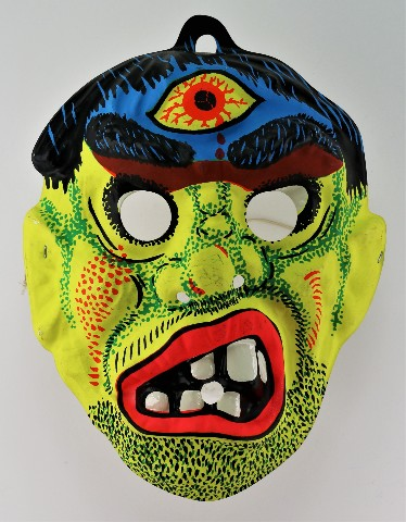 Vintage Cyclops Monster Halloween Mask Third Eye Scary Ghoul Y152