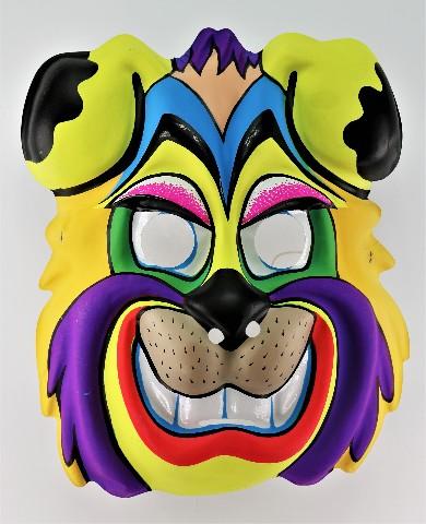 Vintage Cartoon Dog Halloween Mask Smiling K9 Beast Y179