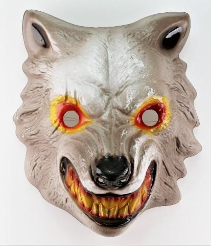 Vintage Werewolf Wolf Man Halloween Mask Big Bad Wolf Little Red Riding Hood
