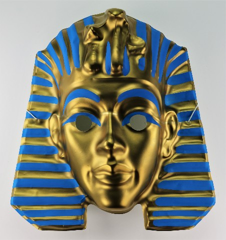 Vintage King Tut Egyptian Mummy Halloween Costume Mask