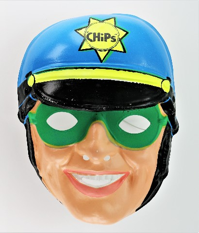 Vintage Ben Cooper CHIPs Halloween Mask CHIPS Highway Patrol Police Cop Y167