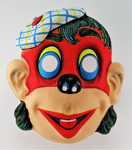 Vintage Funny Clown Red Ape Halloween Costume Mask Monkey Gorilla Y164