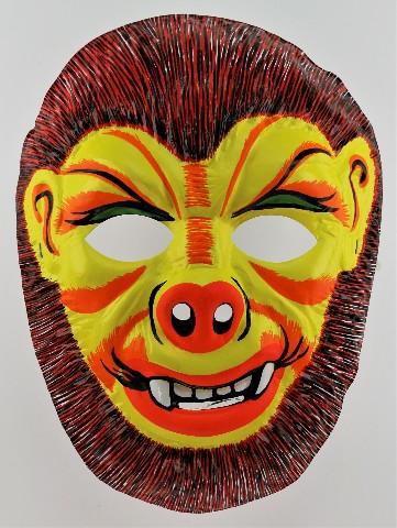 Vintage Topstone Universal Monsters Wolfman Halloween Mask Wolf Man Werewolf 1970s Y161