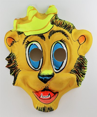 Vintage Crown on Lion King Halloween Mask 1970's