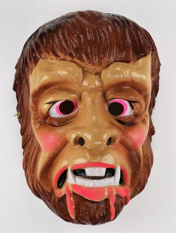 Vintage Werewolf Cesar Halloween Mask Wolf Man Curse of the Werewolf Monster Y059