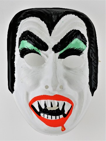 Vintage Dracula Halloween Mask Horror Monster Vampire Creepy Scary Costume Green Variant Y273