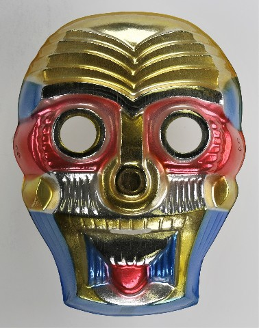 Vintage Toppstone Sky Warrior Halloween Mask Aztec Sugar Skull Animation Y234