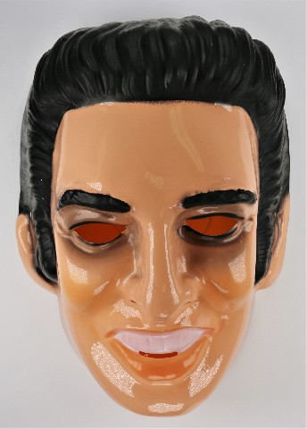 Vintage Elvis Presley Halloween Mask Rock and Roll Music Graceland 1980s Cesar