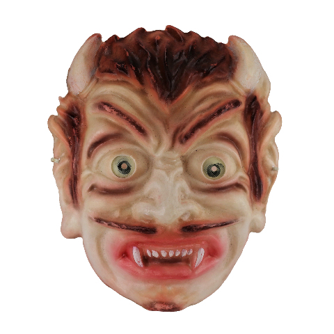 Vintage Rare Crazy Eyed Devil Halloween Mask Demon 1960s Y247