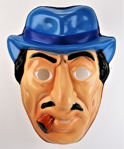 Vintage Ben Cooper Dick Tracy Big Boy Halloween Mask 1980s Y266