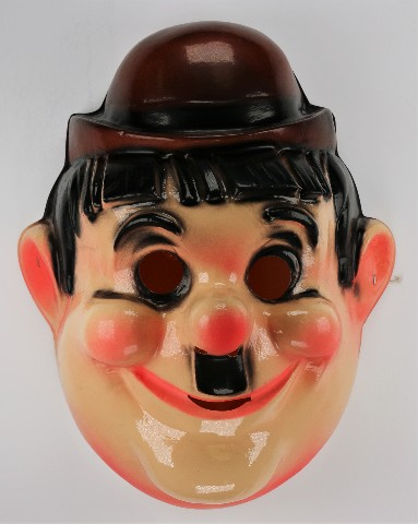 Vintage Laurel and Hardy Halloween Mask Cesar 1980s Oliver Hardy  Comedy B