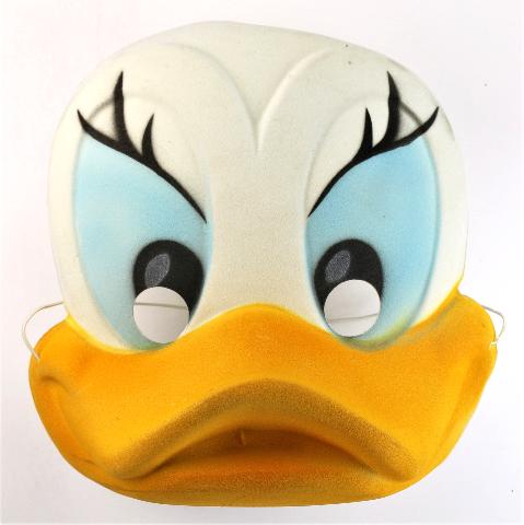 Vintage Walt Disney Ben Cooper Felt Daisy Duck Halloween Mask Y258