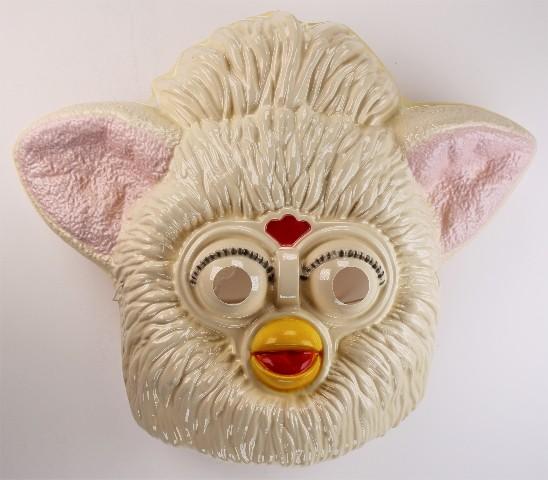 Vintage Tiger Electronics White Furby Halloween Mask 1990s Hasbro BS
