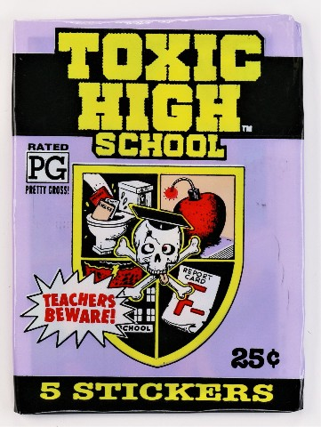 Vintage 1991 Topps Toxic High School Stickers Trading Cards