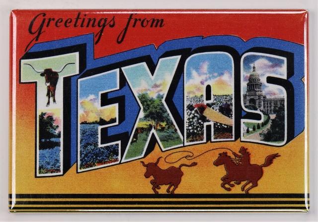 Greetings From Texas Postcard FRIDGE MAGNET San Antonio ...