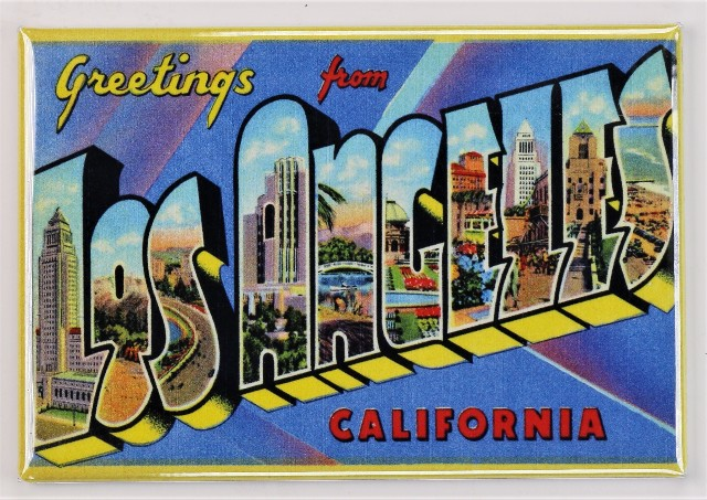 Greetings From Los Angeles California Postcard FRIDGE MAGNET