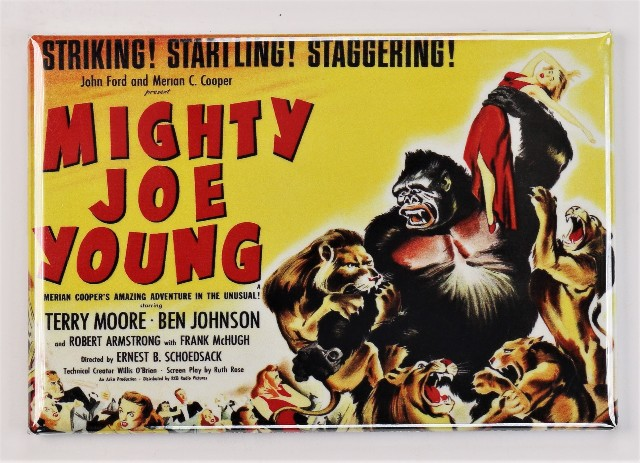 Mighty Joe Young Movie Poster FRIDGE MAGNET Gorilla Ape King Kong Film