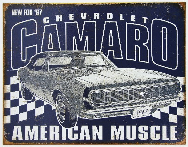 1967 Chevrolet Camaro Tin Metal Sign Chevy SS Super Sport SS 350 Z28 D43