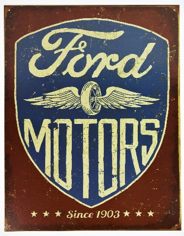 Ford Motors Since 1903 Tin Metal Sign F150 Shelby Mustang Bronco Ranger Truck D48