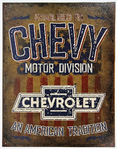 Chevy Motor Division Tin Metal Sign Camaro Chevrolet ...