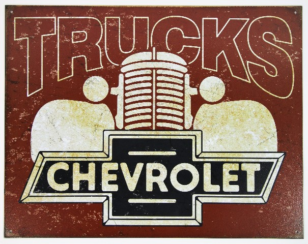 Chevy Trucks Chevrolet Tin Metal Sign Silverado 1500 S10 Blazer K5 D68