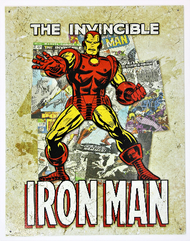 Marvel Comics Iron Man Avengers Tin Metal Sign Spiderman Thor Hulk D110