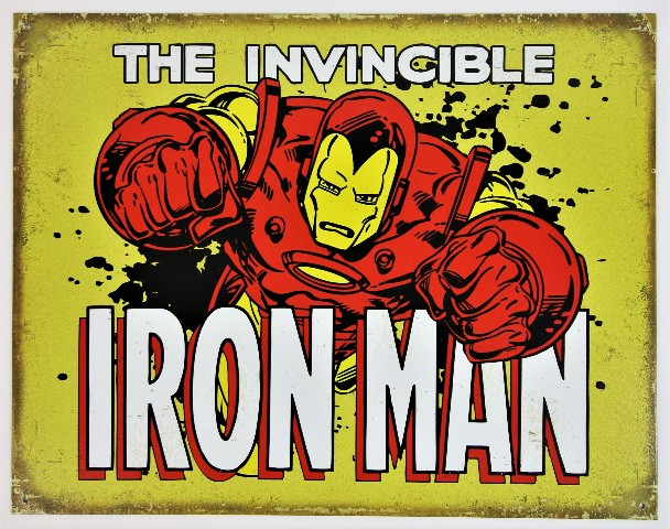 Marvel Comics Iron Man Avengers Tin Metal Sign Spiderman Thor Hulk D93
