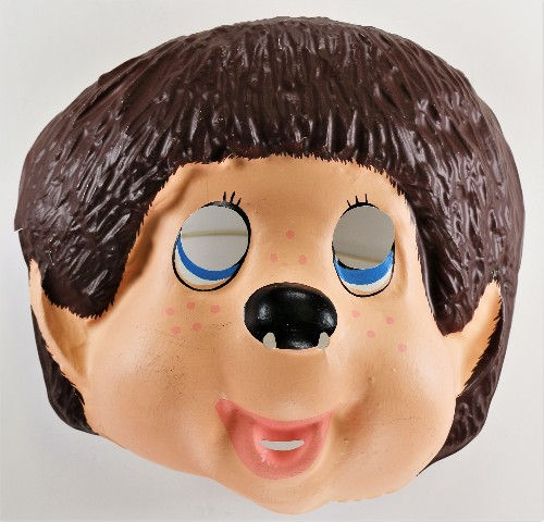 Monchhichi Halloween Mask Japanese Anime Cartoon Monchhichi Twins Ben Cooper 1981