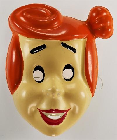 Vintage The Flintstones Wilma Flintstone Halloween Mask Hanna Barbera Rubies Vinta1992