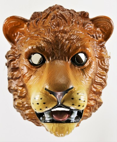 Vintage Cesar Lion Halloween Mask Lion King of the Jungle Book King