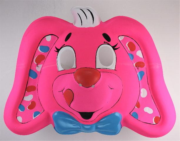Vintage Hallmark Ben Cooper Yum Yums Easter Bunny Halloween Mask 1989 Pink Rabbit