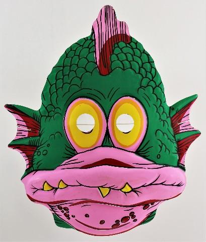 Vintage Topstone Fish Swamp Monster Halloween Mask 80's Swamp Creature