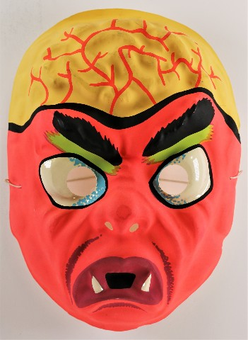 Vintage Brainiac Monster Halloween Mask AJ Quality 1980s