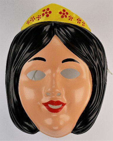 Vintage Disney Snow White Halloween Mask Rubies 92 seven Dwarves