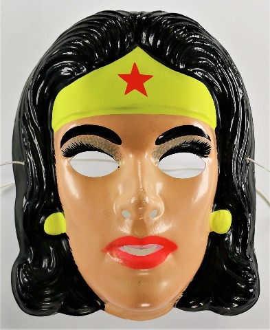 Vintage Ben Cooper Wonder Woman DC Comics Halloween Mask Justice League Superman 1991 Y214